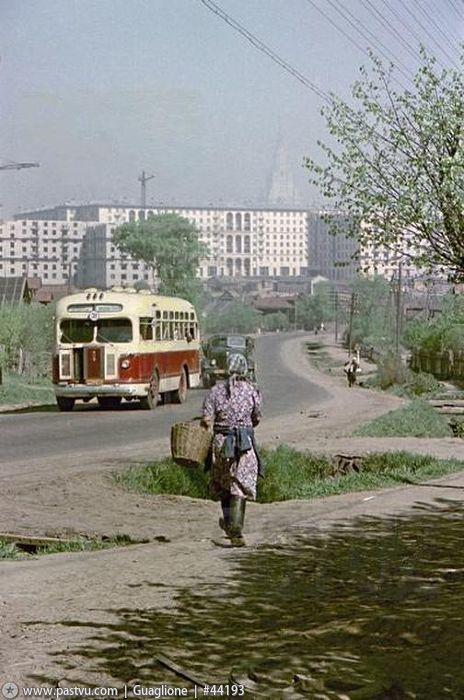 Фотография - Старо-Калужское шоссе, село Семёновское - Фотографии старой Москвы