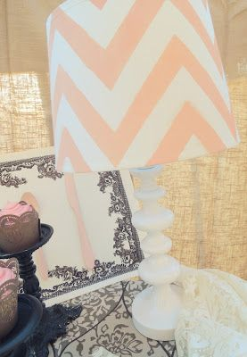 How to make a Chevron lamp -   http://goingoutchic.com/haute-finds-and-how-tos/