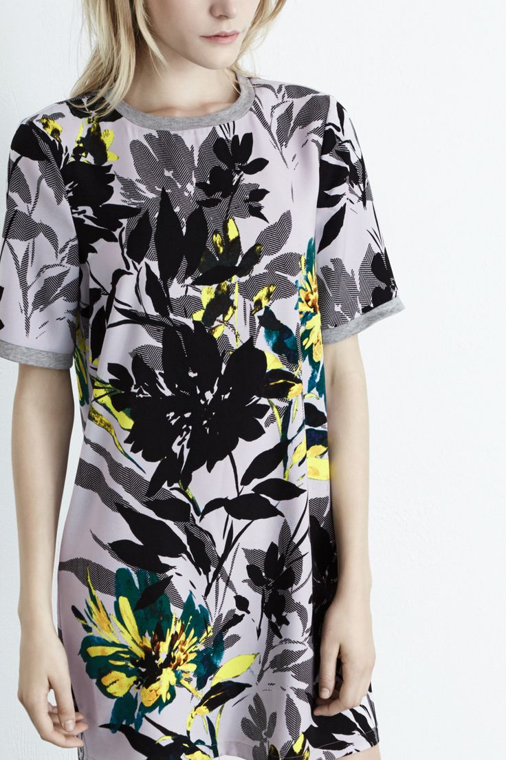 All   Multi Placement Floral Shift Dress   Warehouse