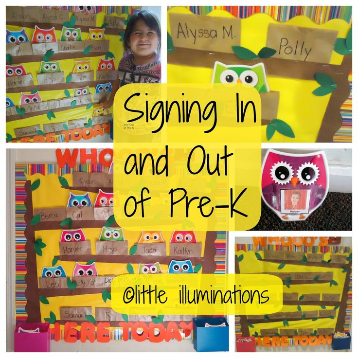 camping theme bulletin board | little illuminations: Signing In and Out in Pre-K