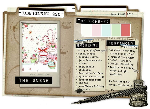 CSI: Color, Stories, Inspiration: Case File No. 220 - Deadline: December 31