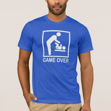 Game Over Dad Funny Pictogram T-Shirt - click/tap to personalize and buy
