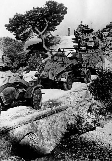 German armored recon vehicles on a mountainous road in the Peloponnese - pin by Paolo Marzioli