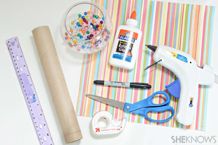 Help kids repurpose a paper towel roll into a gorgeous kaleidoscope craft