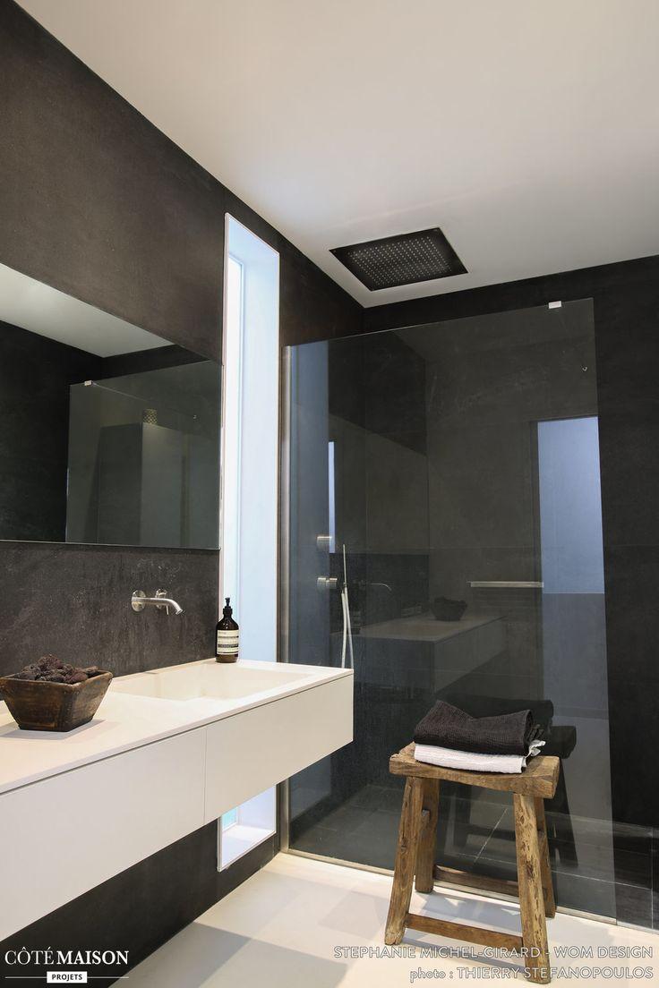 Cote maison salle de bain ici le revtement atypique de la for Cote maison salle de bain