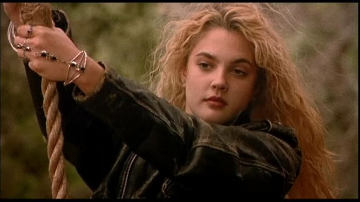 Totlly loved this trashy tuff chic look of early 90's Drew Barrymore in Poison Ivy