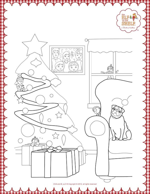 elf on the shelf color pages - 102 best images about christmas coloring pages on