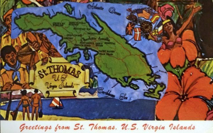 map of st thomas us virgin islands