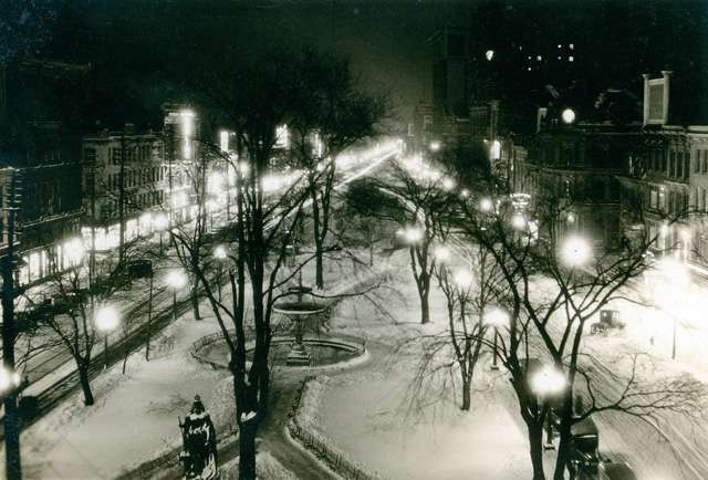 Gore Park at night, February 1926