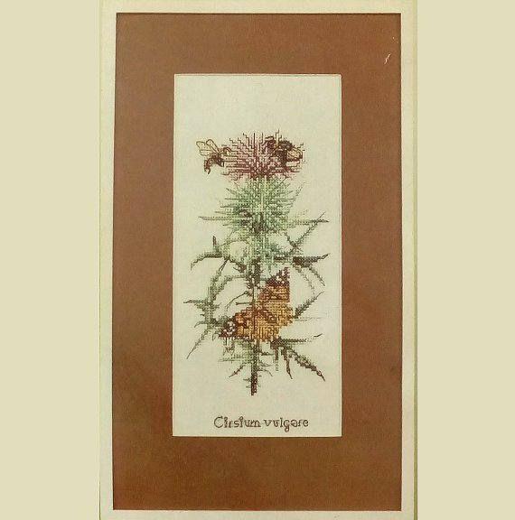 Vintage Embroidery Kit Lanarte Embroidery Kit Flower Bees