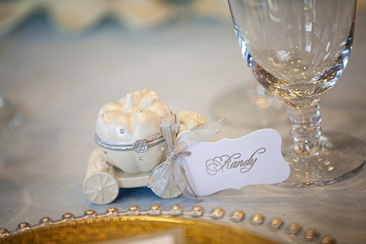Share the magic with your guests by giving them their own Cinderella's Coach as a favor #wedding