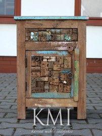 http://karinameble.pl/pl/p/szafka-Loft-Colors-recykling-LD-1090/4312 nowa kolonialna szafka z kawełki drewniane  recyklingu