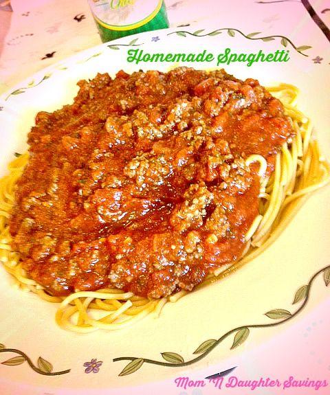 recipe-Homemade #spaghetti-sauce