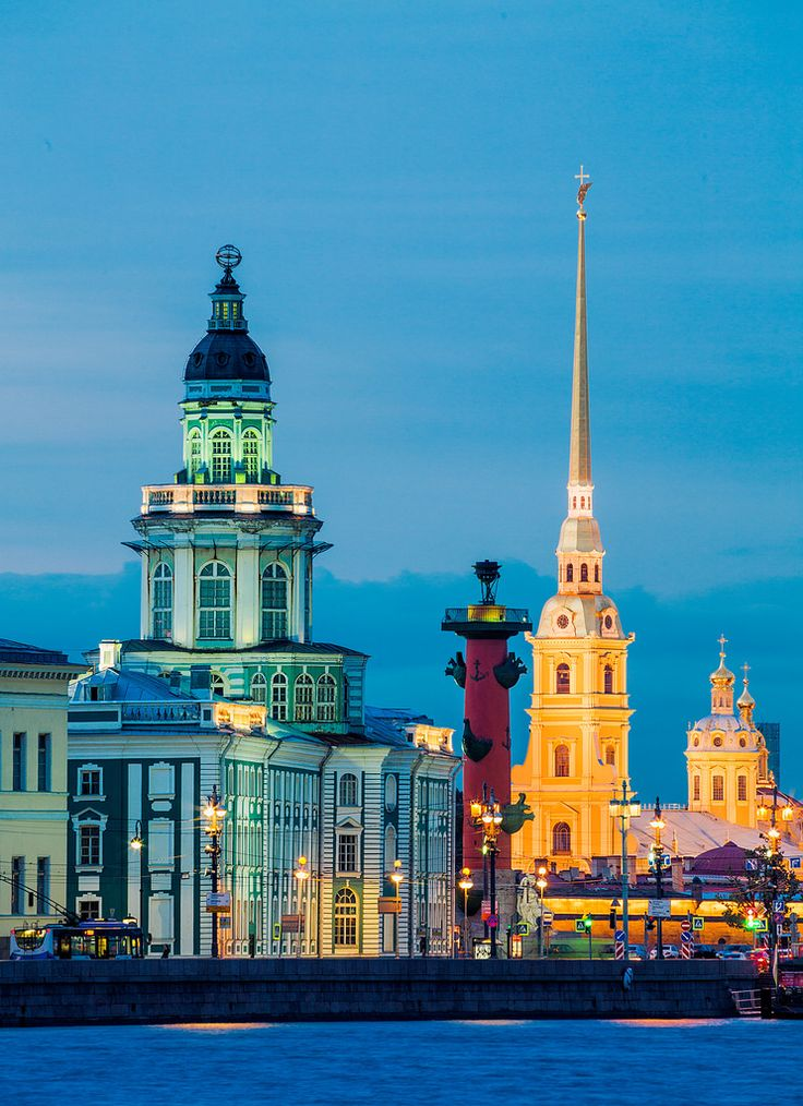 Peter and Paul Cathedrals in St. Petersburg, Russia