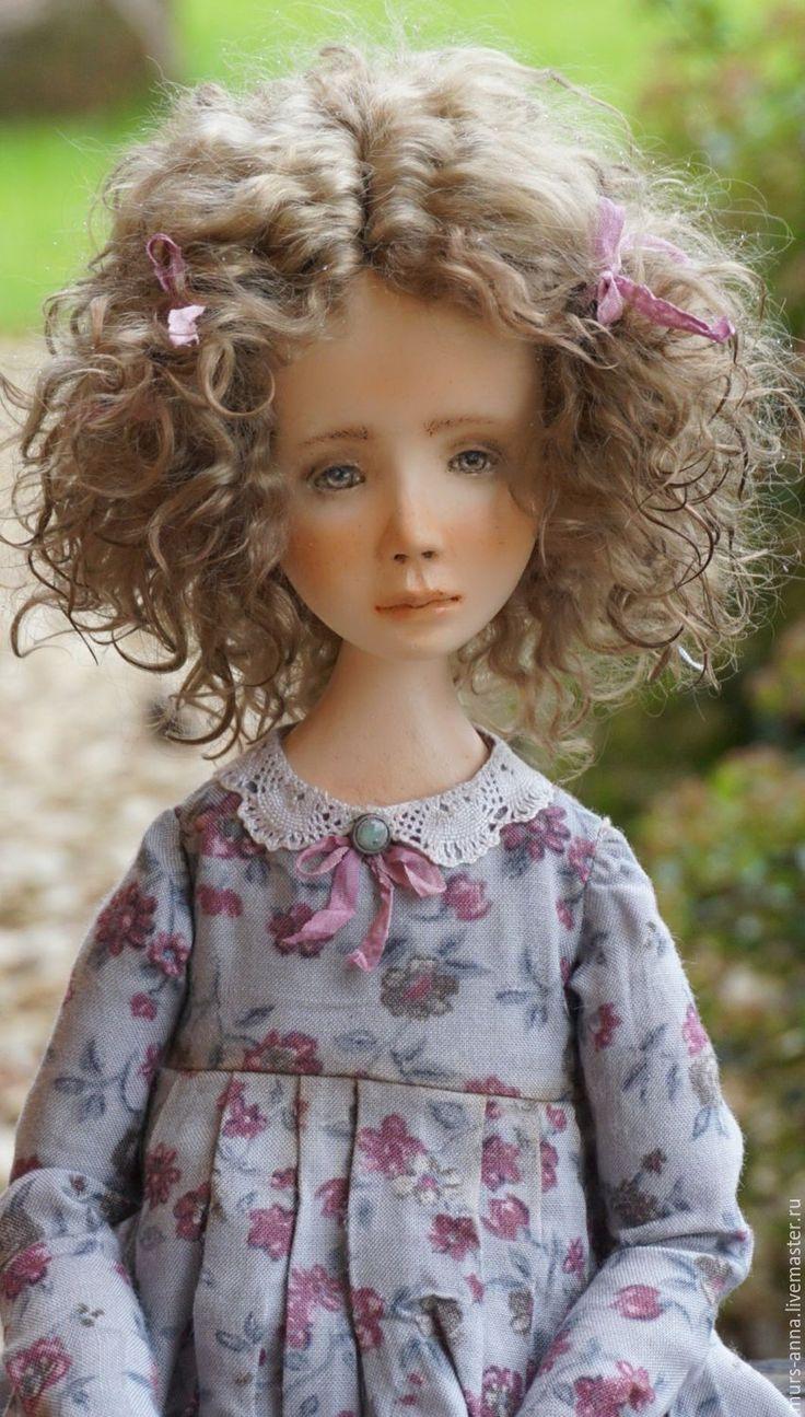 Купить Коллекционная куколка Милана. - серый, кукла ручной работы, единственный экземпляр, кукла в подарок