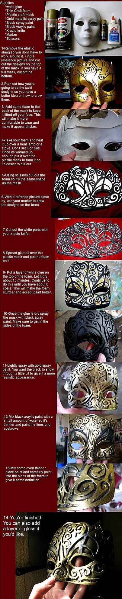 Hellequin Mask Tutorial from AssassinsCreed Brotherhood