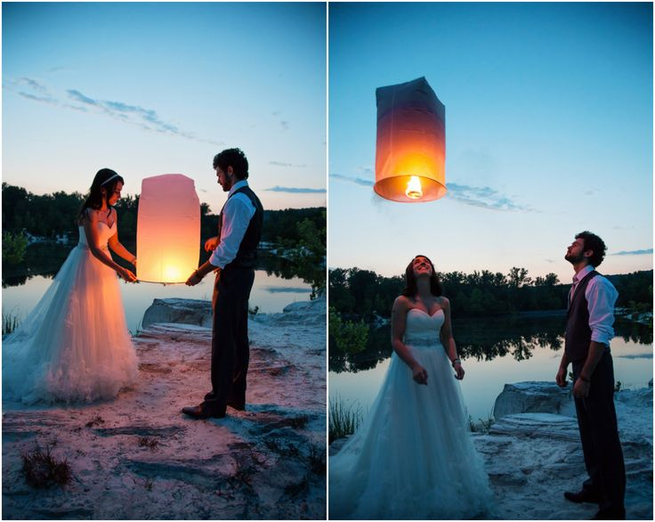 Rustic Vineyard Wedding Floating Laterns