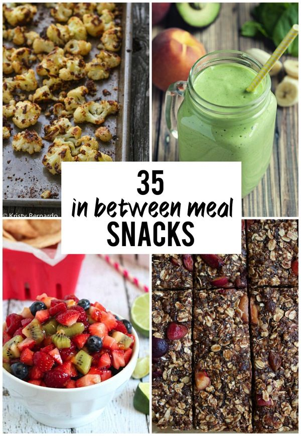 35 In Between Meal Snacks | Struggling with what to eat in between meals? Bored with your usual snacks? This roundup has great, new, healthy snack ideas! #snacks
