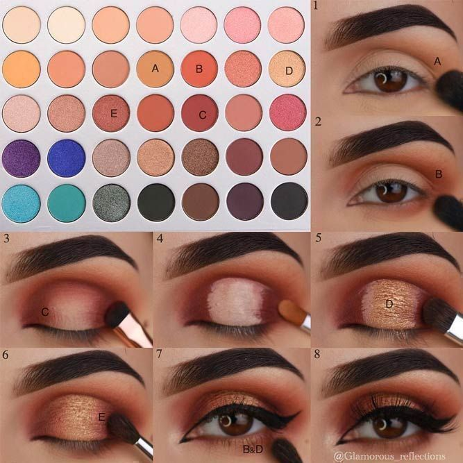 The question how to apply eyeshadow has very many answers. Yet, we managed to do our best and gather all the perfect ways of eyeshadow application in one place and we are more than willing to share our knowledge with you! Use it to your advantage, make su (makeup eyeshadow hazel) – Janie Roy
