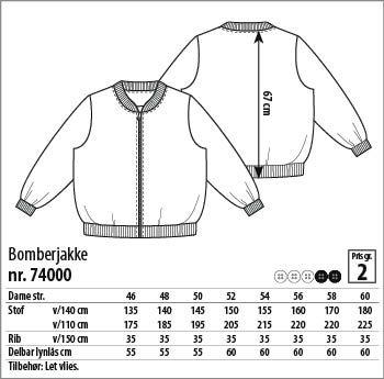 Bomberjakke - 74000 - Stof & Stil