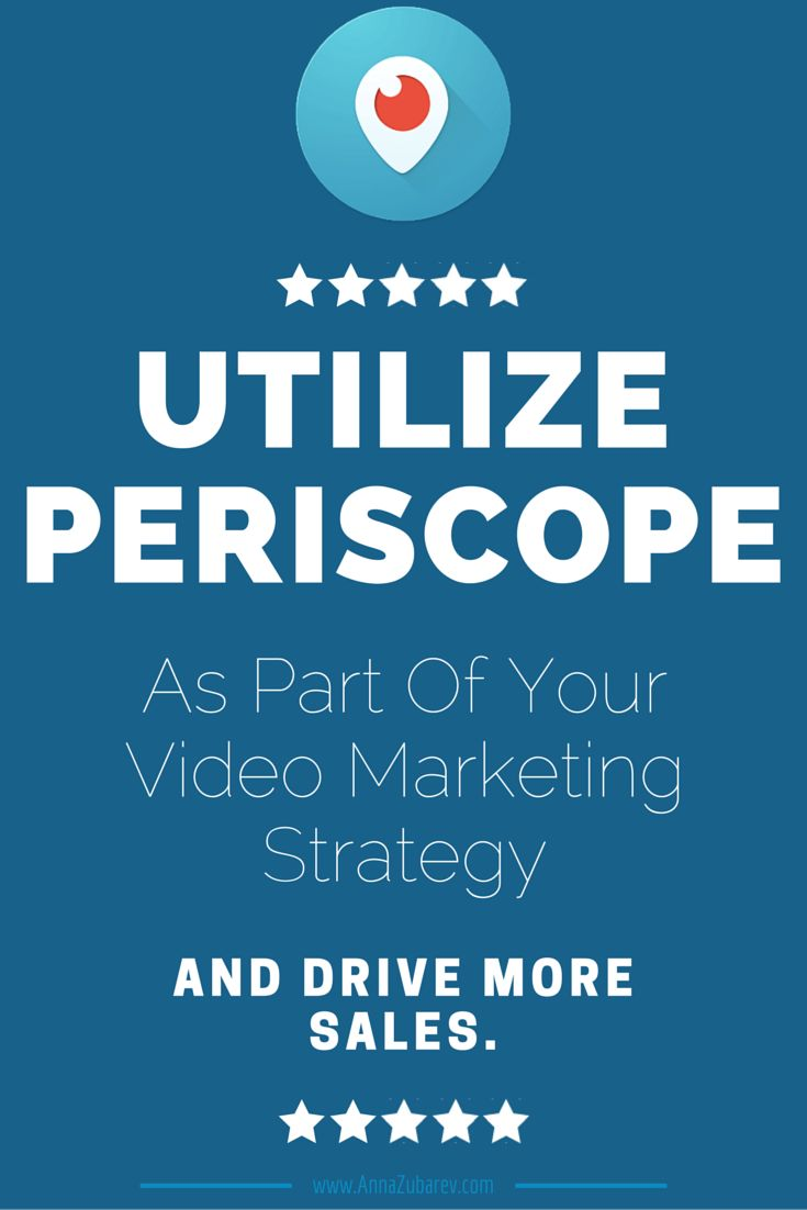 Utilize Periscope As Part Of Your Video Marketing Strategy And Drive More Sales. #VideoMarketingStrategy Via @AnnaZubarev