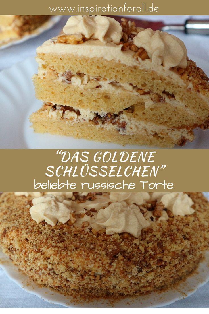 Torte Solotoj Klütschik - Rezept für leckeren russischen