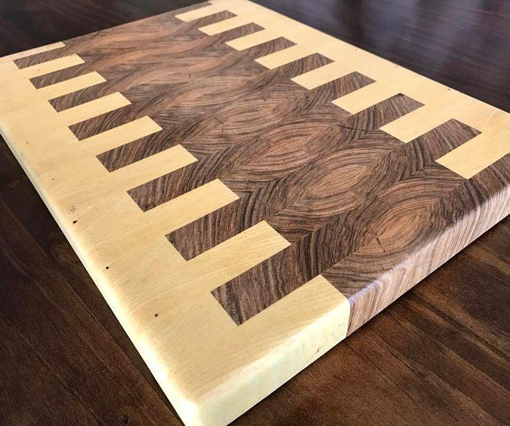 Hackberry heartwood + sapwood endgrain cutting board