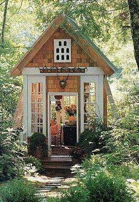 Here's a nice one.: Art Studios, Little Gardens, Gardens Houses, Tiny Houses, Playhouses, Pots Sheds, Gardens Sheds, Summer Houses, Gardens Cottages