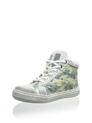 70% OFF Cartina Kid's High-Top Sneaker (Mimetico/Bianco)