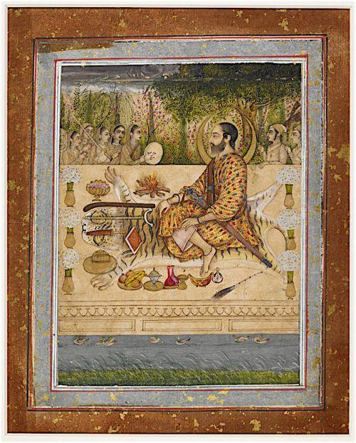 A royal ascetic. Deccani, Bijapur, c. 1660 (British Library, J.16, 2)