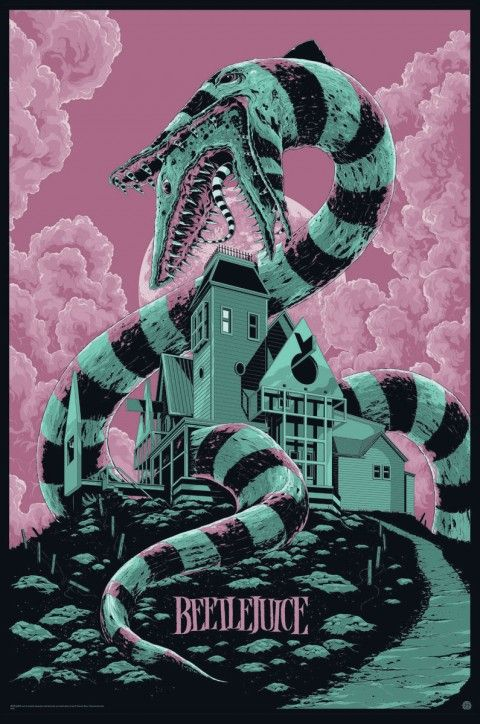"Affiche originale Mondo ""Beetlejuice"" (03/15/13) par Ken Taylor, numérotée, taille: 24×36"" regular edition 400 exemplaire au monde. @asgalerie #asgalerie #mondo #Beetlejuice #KenTaylor"