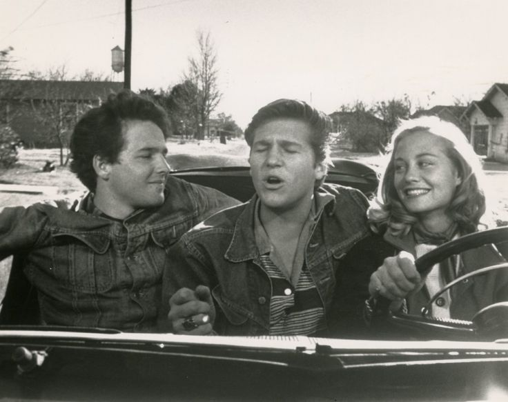 Jeff Bridges, Cybill Shepherd, and Timothy Bottoms, in The Last Picture Show (1971).