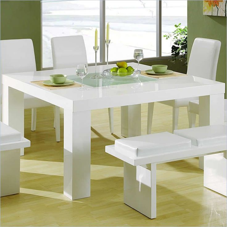 global furniture usa lony square dining table in white - dg020dt