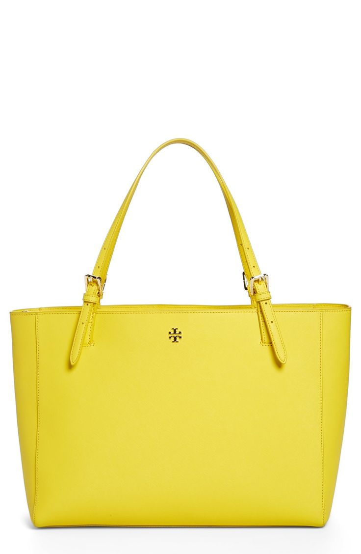 This vibrant Tory Burch tote is the perfect spring handbag!