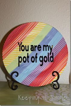 """You Are My Pot Of Gold"" Platter #paintityourself"