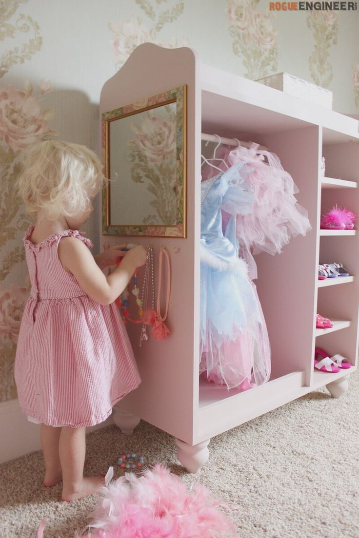 DIY Dress Up Center Plans- Free & Easy Plans | rogueengineer.com/ #DressUpCenter. #BabyChildDIYplans