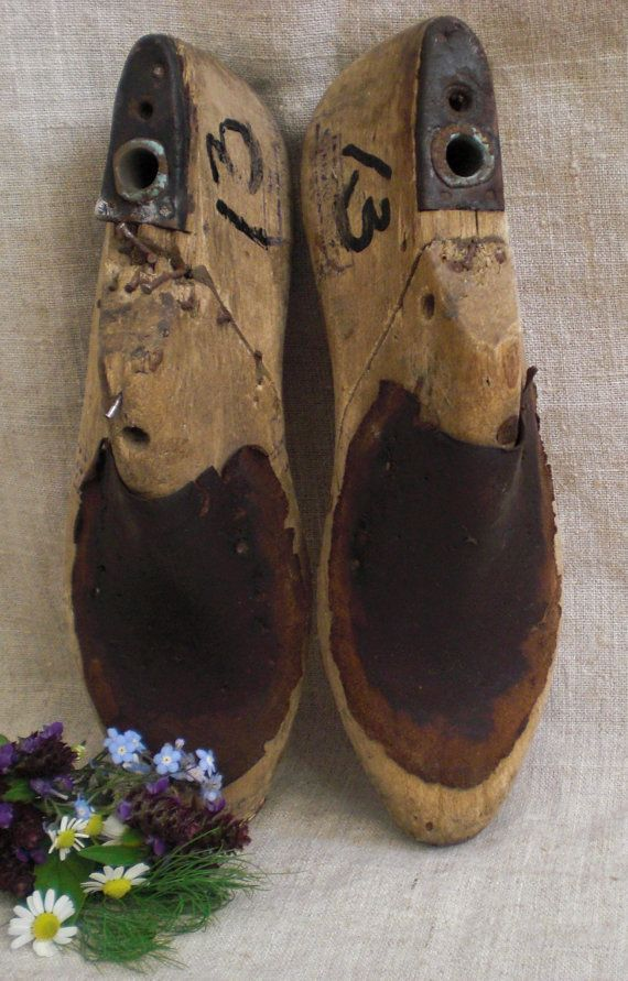 Vintage wooden shoe lasts wooden shoe mold by vintagefullhouse, $29.60