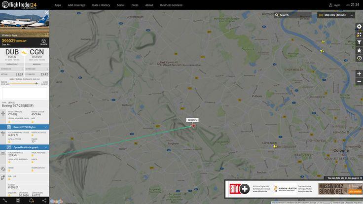 Schatz, horche mal aus dem Fenster! ;-) Der nächste, laute Flieger ist gerade bei mir in den Landeanflug auf Köln-Bonn übergegangen und wird in wenigen Augenblicken eine Schleife über die Flittarder Rheinaue dem Rhein entlang vorbei an der Hufelandstraße Richtung Porz-Wahn fliegen! :-)) <3 Man macht der einen Radau!! :-)) Interessant ist, daß auf dem Kölner Flughafen das Call-Sign deaktiviert ist! Im Gegensatz zu Düsseldorf ;-) Pluspunkt für Köln!