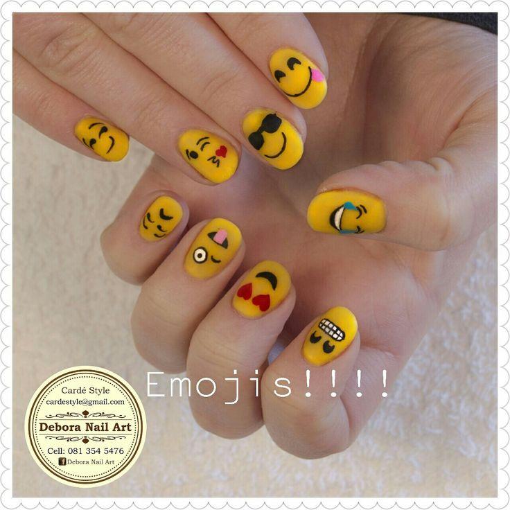 #handpaintednails #emojis #theemojimovie #yellow #lovenails #nailart #deboranailart