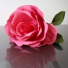 Giant Crepe Paper Rose - Bespoke by www.PearlandEarl.com