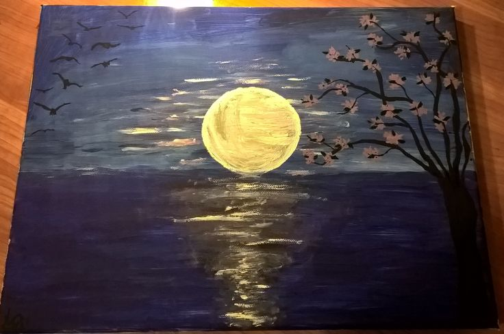 #moon #painting #art #acrylic