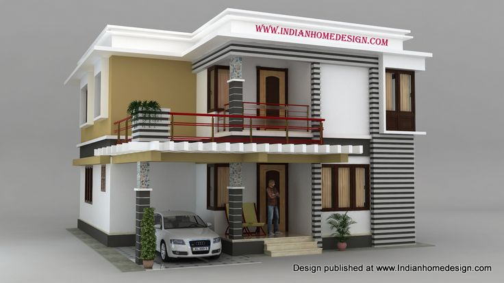 Cool 9 9 south indian house models photo 9 house design for House front model design