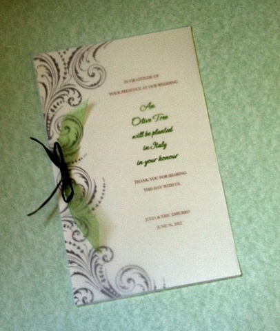 Green Wedding Invitation Ideas  Tree Favors    Olive Tree Memorial - Plant a Tree in Italy Sicily