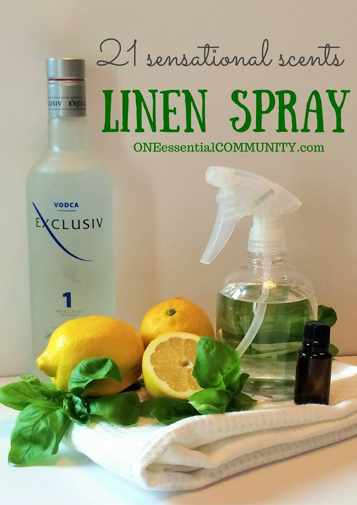 Love this! DIY linen sprays in 21 amazing scents {with FREE PRINTABLE of all the recipes} -- there are citrus ones, floral ones, calming blends, energizing recipes, bedtime pillow sprays, and more! Perfect way to freshen upholstered furniture, pillows, rugs, draperies, clothes, towels, sheets, and more!