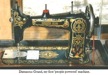 "Damascus Grand"" Rotary machine made in the early 1920's for Montgomery Wards by the National Sewing Machine Company of Belvidere, IL."