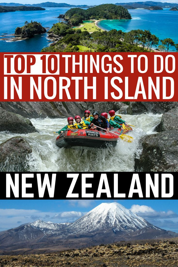 Top Things to do in New Zealand. The ultimate New Zealand travel guide to the North Island. Our NEw Zealand trip planner has all the best places to visit in New Zealand; Bay of Islands and Swimming with Dolphins, Hike or Ski the Tongariro National Park, White Island, Auckland to Wellington by Train, Whitewater Rafting New Zealand, Lake Taupo, Rotorua, Waiheke Island. #newzealand