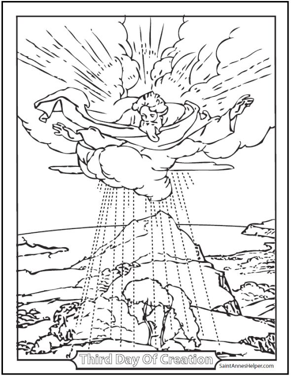 catholic coloring pages creation story - photo#5