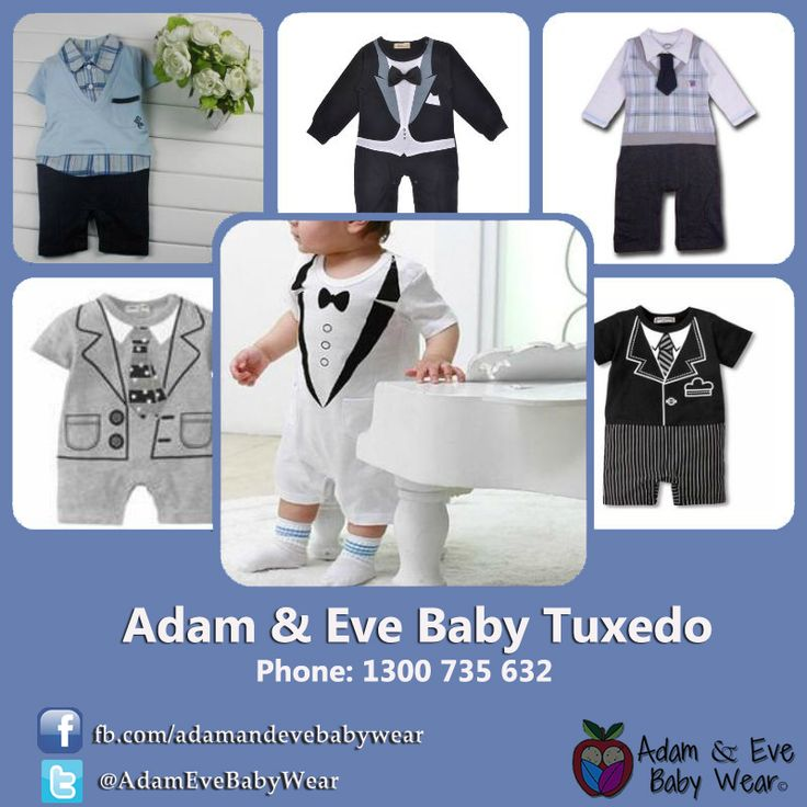 Start shopping online today for real baby boy tuxedos, baby romper suits and all sorts of great baby boy formal wear, and discover a range with something for any occasion.  http://www.adamandevebabywear.co.nz/c/4484831/1/boys-suits.html http://www.adamandevebabywear.com.au/c/4268417/1/boys-suits.html http://www.adamandevebabywear.co.uk/c/4488434/1/boys-suits.html