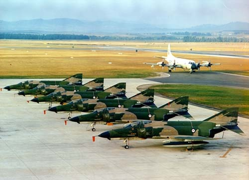 First six McDonnell Douglas F-4 Phantoms leased to the RAAF as an interim aircraft whilst the F-111 order was delayed,1970