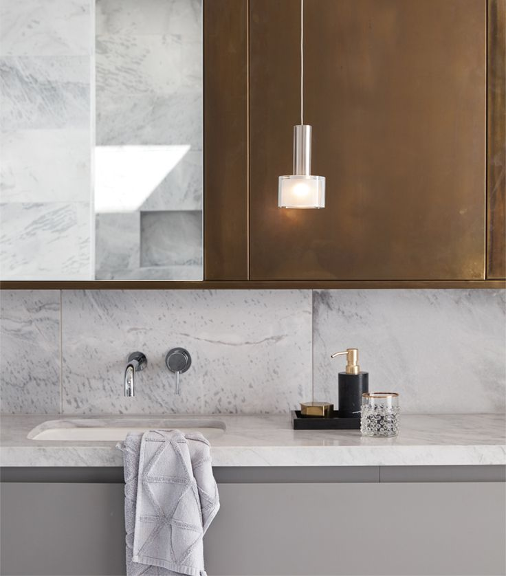 The Beacon Lighting Pharos 1 light LED non-dimmable pendant in brushed chrome with frosted and clear glass diffusers